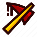 axe, celebration, halloween, holiday, scary, sign icon