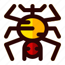 celebration, halloween, holiday, scary, sign, spider icon
