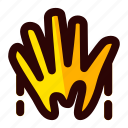 celebration, halloween, hand, holiday, scary, sign icon