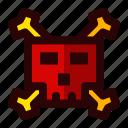 celebration, halloween, holiday, scary, sign, skull icon