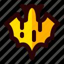 bat, celebration, halloween, holiday, scary, sign icon