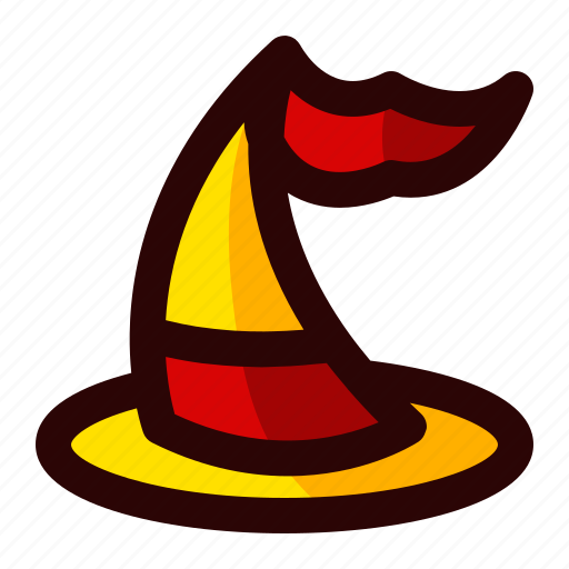 celebration, halloween, hat, holiday, scary, sign, witch icon