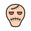 cartoon, face, frankenstein, halloween, horror, party icon
