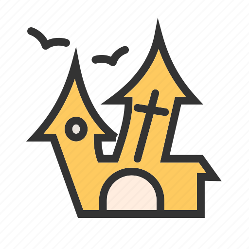 building, haunted, home, house, mansion, scary, spooky icon