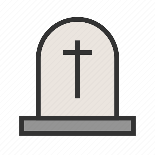 death, funeral, grave, gravestone, graveyard, stone, tomb icon
