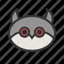 bird, dark, halloween, horror, midnight, owl, tree