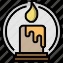 candle, christmas, decoration, halloween, illumination, miscellaneous, ornamental icon