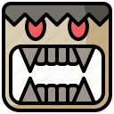 carnival, costume, fangs, halloween, party icon