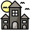 building, castle, fantasy, fortress, haunted, house, medieval icon