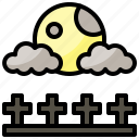 astronomy, full, moon, phase icon