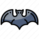 animal, animals, bat, halloween, wild, zoo icon