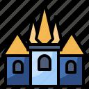 buildings, castle, fantasy, fortress, halloween, mon, monument