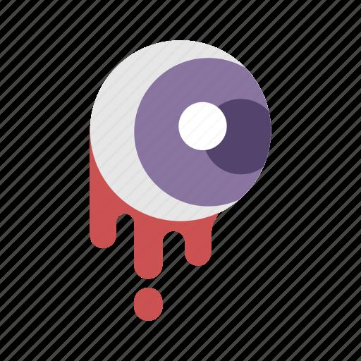 bloody eyeball, body part, halloween, horror, scary icon