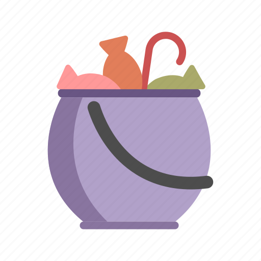accessory, cauldron candy bucket, costume, halloween, trick or treat icon
