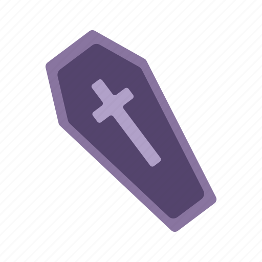 coffin, crypt, dead, funeral, halloween icon