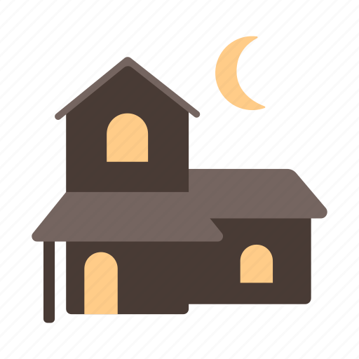 haunted house, poltergeist, scary, spooky, terror icon