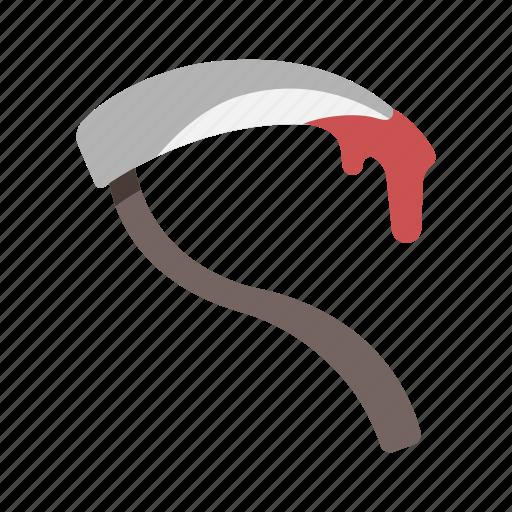 death, halloween, scythe, terror, weapon icon