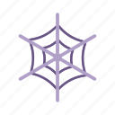 cobweb, dusty, halloween, old, spider web icon