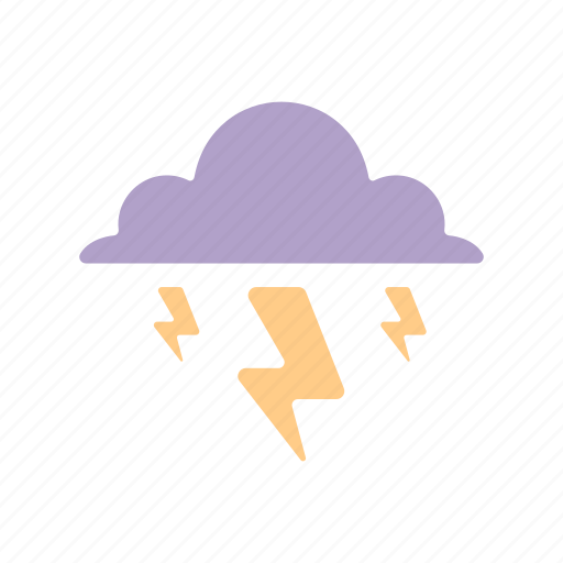 Cloud, lightning, rain drop, thunderstorm, weather icon - Download on Iconfinder