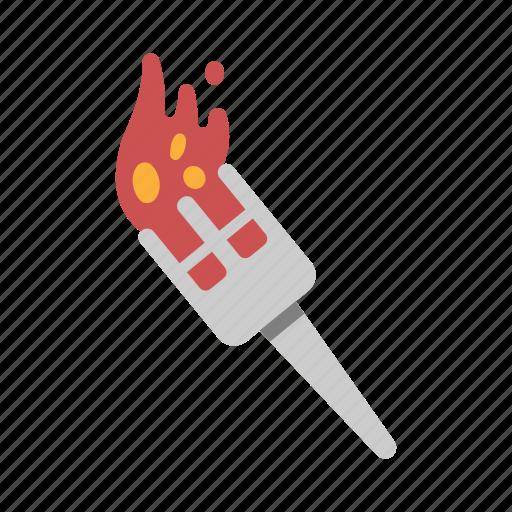 flame, illumination, lantern, light, torch icon