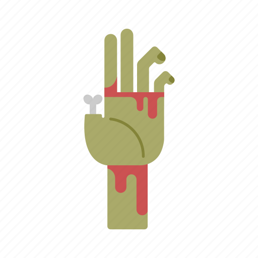 halloween, infected, mutilated, undead, zombie hand icon