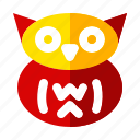 celebration, halloween, holiday, owl, scary, sign icon
