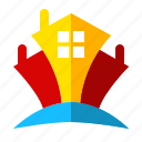 castle, celebration, halloween, holiday, house, scary, sign icon