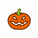 celebration, halloween, horror, illustration, pumpkin, spooky icon
