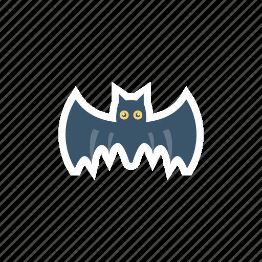 bat, bird, fly, halloween icon