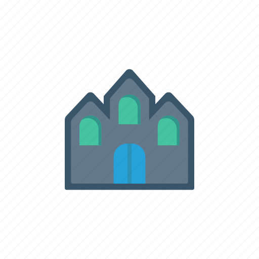 building, church, estate, house icon