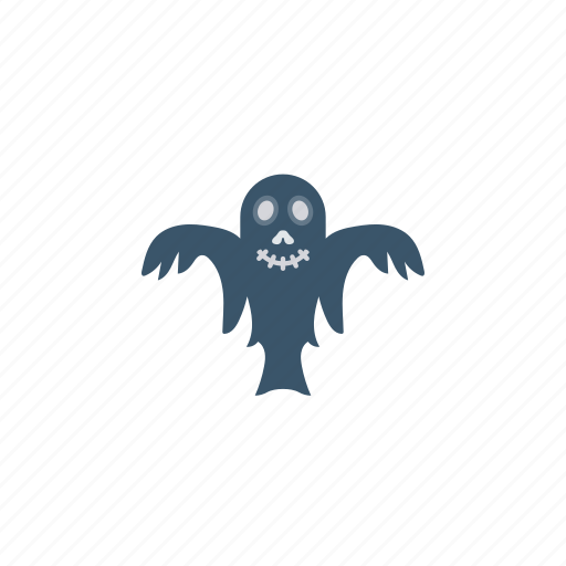 creepy, ghost, halloween, skull icon