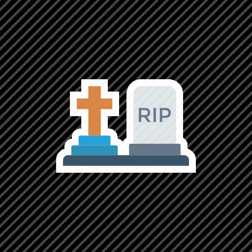cemetery, grave, rip, tombstone icon