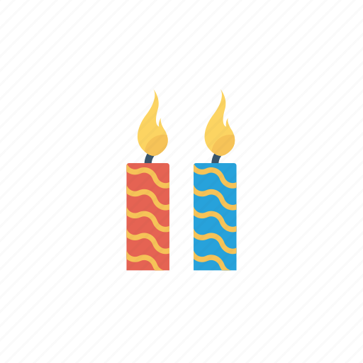 candles, flame, lamp, light icon