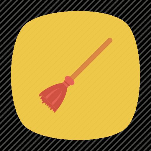 broom, brush, clean, mop icon