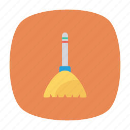 broom, brush, duster, mop icon