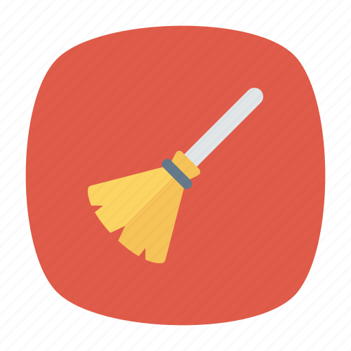 broom, brush, cleaner, mop icon