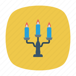 candelabra, candles, light, stand icon