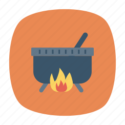 burner, cauldron, halloween, witch icon