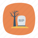 cemetery, grave, rip, tombstone icon