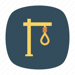 crime, gallows, hangrope, suicide icon