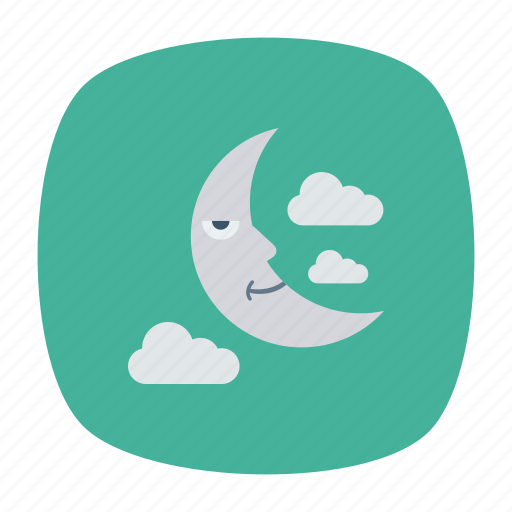 Cloud, moon, night, stars icon - Download on Iconfinder