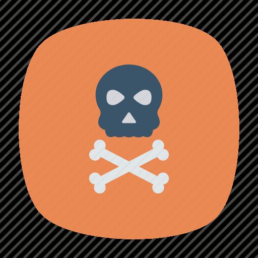 bones, danger, roger, skeleton icon