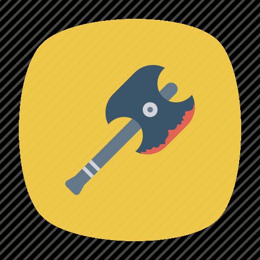 axe, chop, scythe, weapon icon