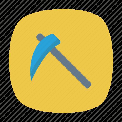 axe, chop, scythe, tool icon