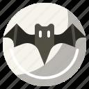 animal, bat, halloween, moon, night icon