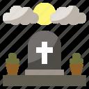 cementery, cross, death, grave, miscellaneous, tombstone icon