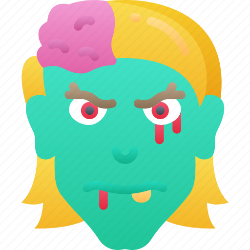 Dead, evil, female, halloween, zombie icon - Download on Iconfinder
