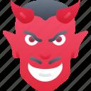 devil, evil, halloween, red person, satan icon