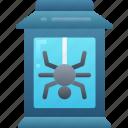 candle, evil, halloween, lantern, spider icon