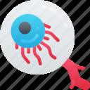 ball, evil, eye, halloween, view icon